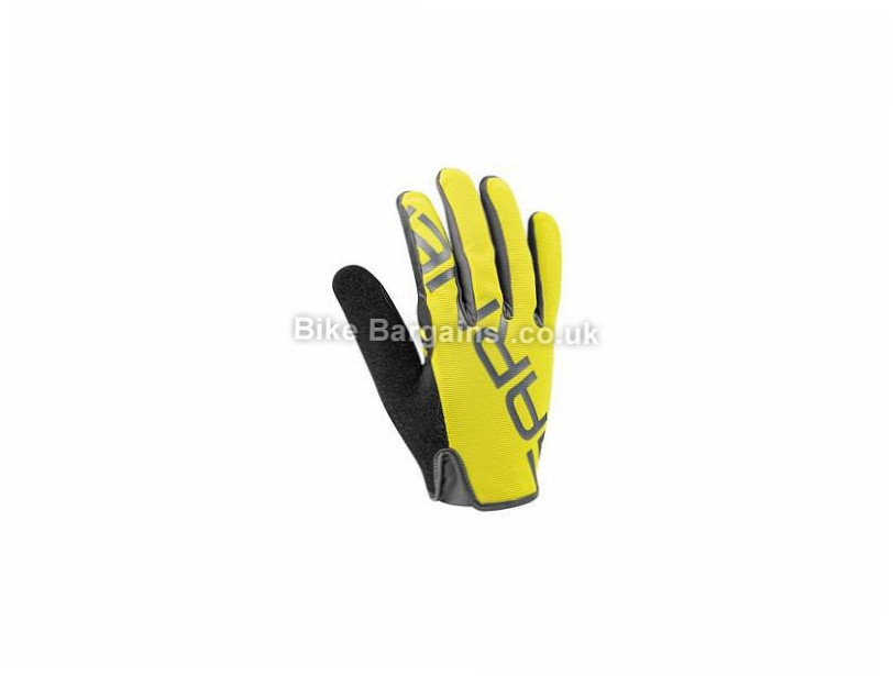 Louis Garneau Ditch Full Finger Gloves S,M,L,XL,XXL, Grey, Purple, Yellow, Full Finger, Synthetic Leather