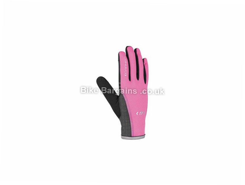 Louis Garneau Rafale RTR Ladies Full Finger Gloves L, Black, Pink, Full Finger, Gel