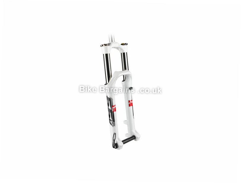 "Marzocchi 55 Micro STA Tapered Mountain Bike Suspension Fork 2014 26"", white, 160mm"