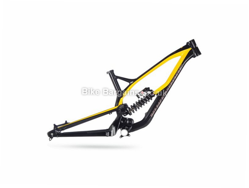 "Nukeproof Pulse Team Alloy Full Suspension Mountain Bike Frame 2017 15"",  Black, Yellow, Alloy"