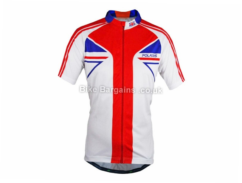 Polaris Decree Road Jersey White, Red, Blue, M, XL, XXL