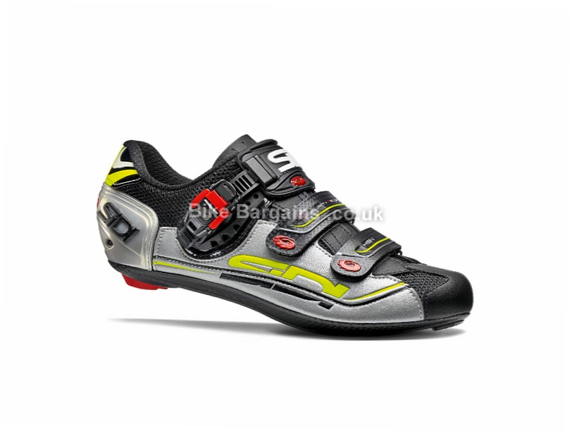 Sidi Genius 7 Road Shoes 45,47, Black, Silver
