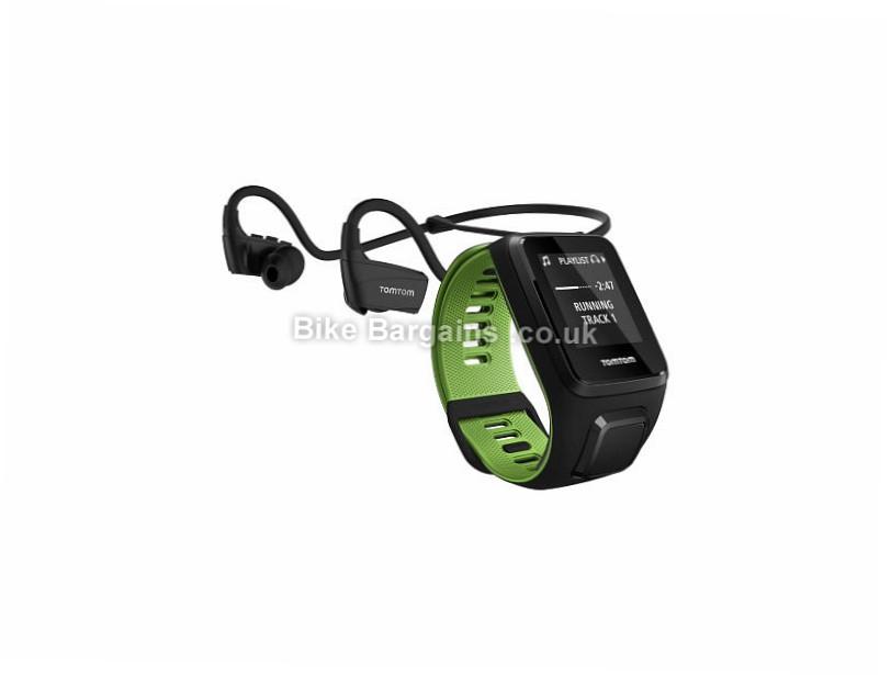 TomTom Runner 3 Music Wireless Multisport GPS Watch Black, Green, L