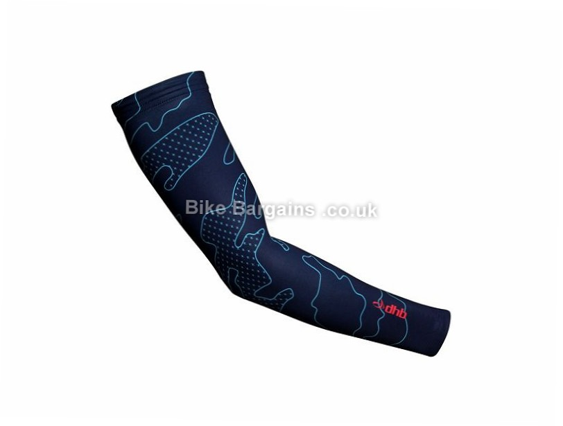 dhb Blok Camouflage Arm Warmers XS, Red, Blue