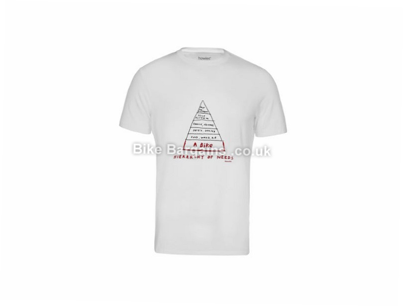 howies Hierarchy Casual T-shirt White, M , L