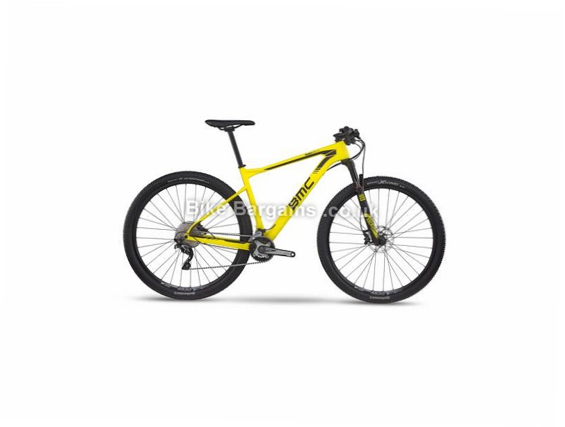 "BMC Teamelite TE02 29"" Carbon Hardtail Mountain Bike 2017 XS,M, Yellow, Black"