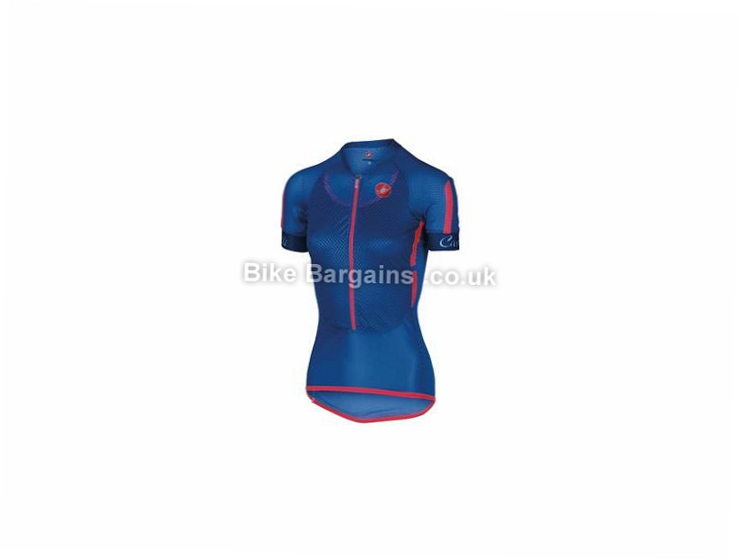 Castelli Ladies Climber's Short Sleeve Jersey S,M,L, Red, Blue