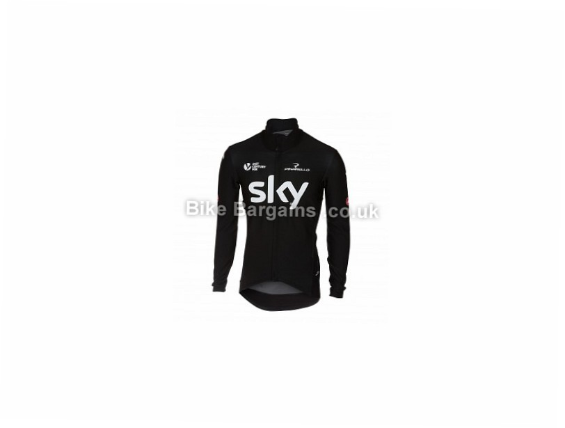 Castelli Team Sky Perfetto Jacket 2017 S, Black, Men's, Long Sleeve, 386g