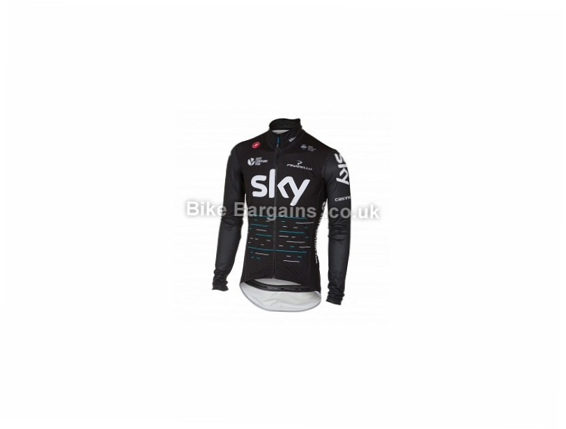 Castelli Team Sky Pro Fit Light Rain Jacket L, Black