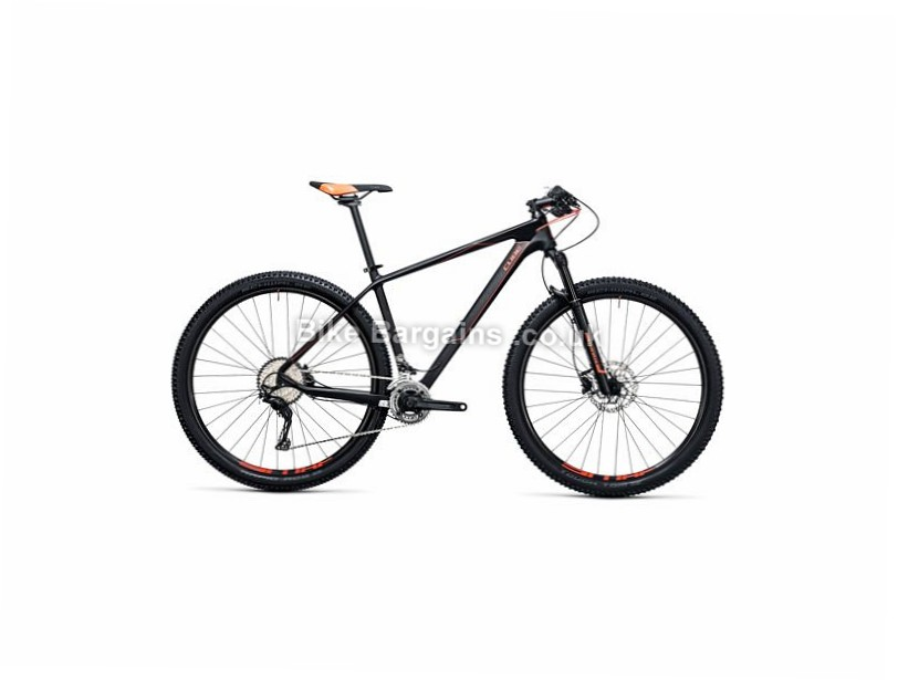 "Cube Reaction GTC 29"" Carbon Hardtail Mountain Bike 2017 29"", 21"", Grey, Red, Carbon, 100mm"