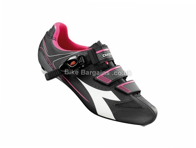 Diadora Trivex Plus II Ladies SPD-SL Road Shoes 37, 38, 39, 40, 41, 42, Black, White