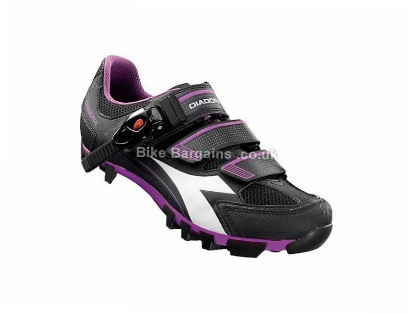 Diadora X Trivex Plus II Ladies MTB SPD Shoes 42, Black, White, Pink