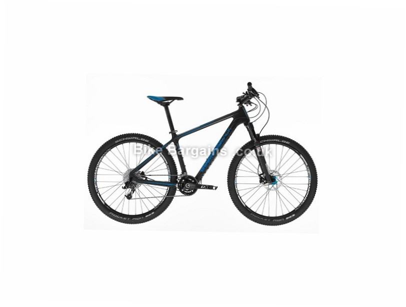 "Diamondback Lumis 3.0 27.5"" Carbon Hardtail Mountain Bike 2017 15"", Black, Blue"