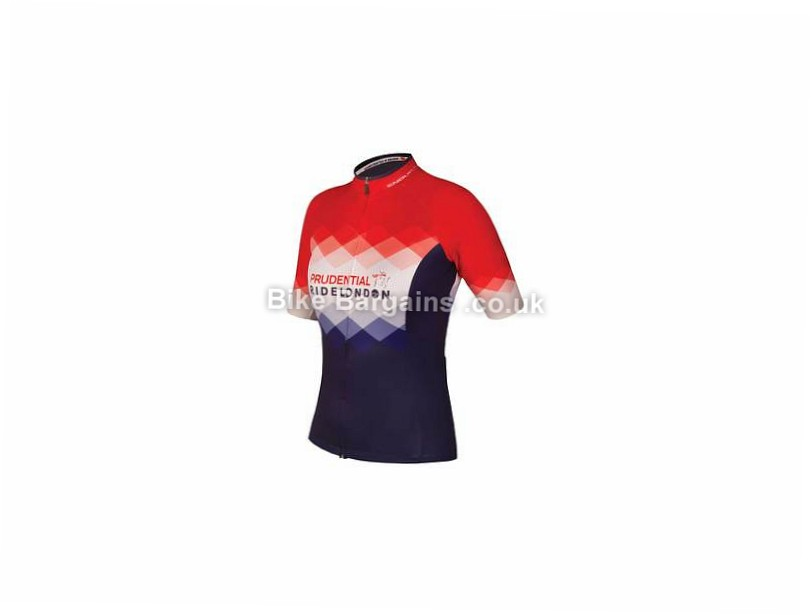 Endura Prudential RideLondon Ladies Short Sleeve Jersey Red, Blue, S