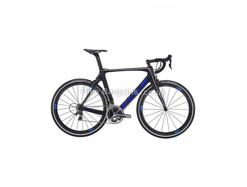 Fuji Transonic 1.3 Carbon Road Bike 2016 L, Black, Blue, Carbon, Calipers, 11 speed, 700c, 7.36kg