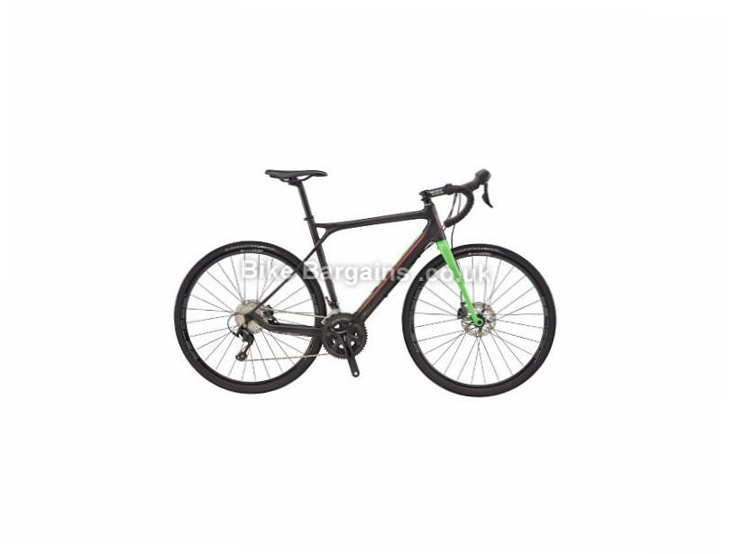 GT Grade Carbon 105 Adventure Road Bike 2017 58cm, Black, Green