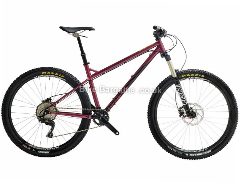 "Genesis Latitude 27.5"" Steel Hardtail Mountain Bike 2017 S, Red"