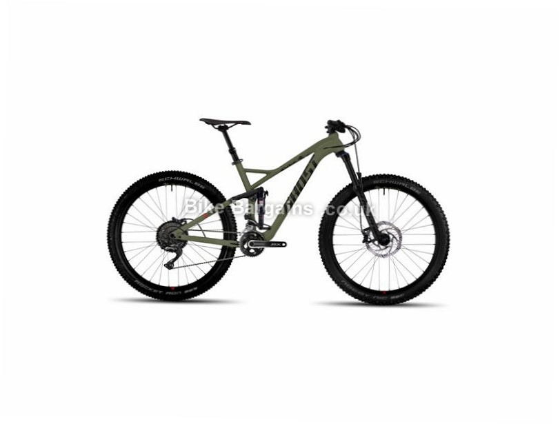 "Ghost H AMR 6 AL 27.5"" Alloy Full Suspension Mountain Bike 2017 27.5"", 19"", 20"", Black, Red, 11 Speed, Alloy, 140mm"