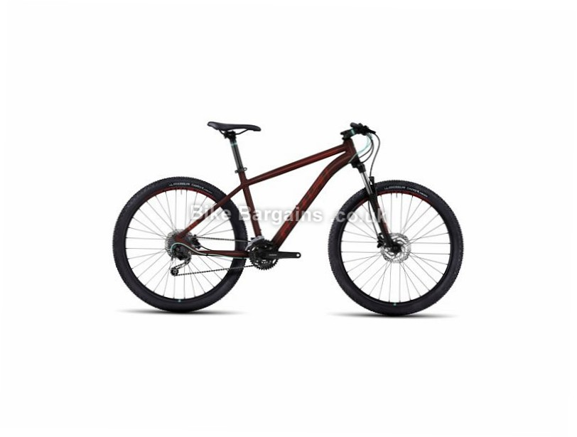 "Ghost Kato 3 27.5"" Hardtail Mountain Bike 2017 27.5"", 18"", Black, Red, 27 Speed, Alloy, 100mm"