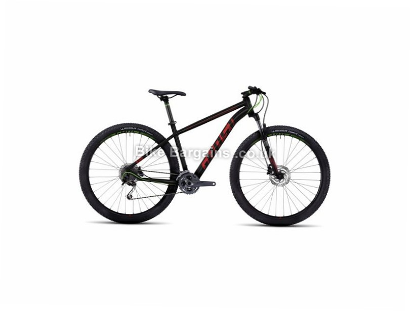 "Ghost Kato 4 29 Alloy Hardtail Mountain Bike 2017 29"", 19"", Black, Green, Blue, 27 Speed, Alloy, 100mm"