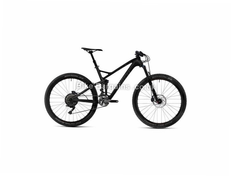 "Ghost SL AMR 6 27.5"" Carbon Full Suspension Mountain Bike 2017 27.5"", 17"", Black, 22 Speed, Carbon, 130mm, 130mm"