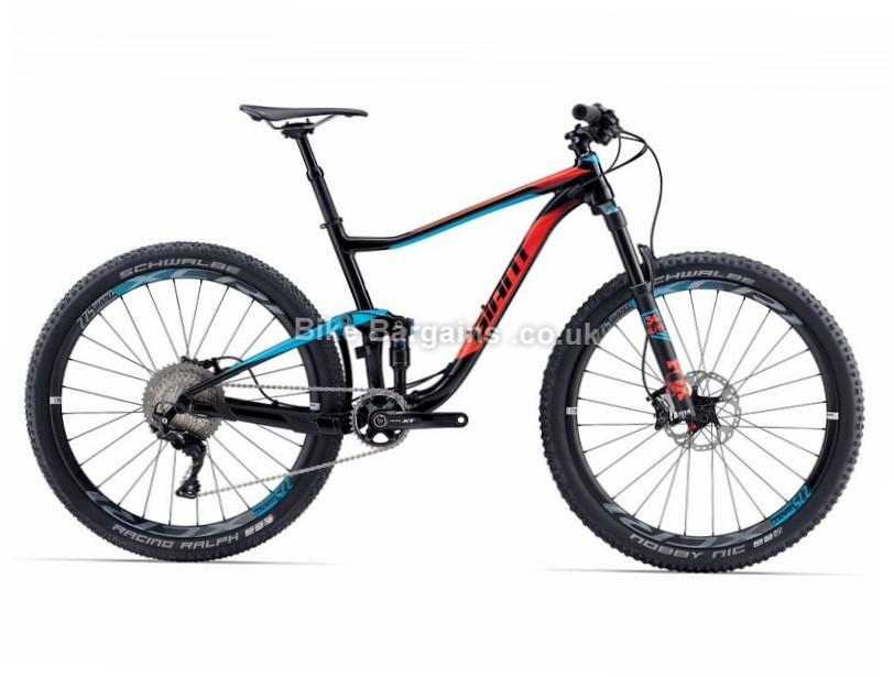 "Giant Anthem 1 27.5"" Alloy Full Suspension Mountain Bike 2017 L, Black, Blue, Red"