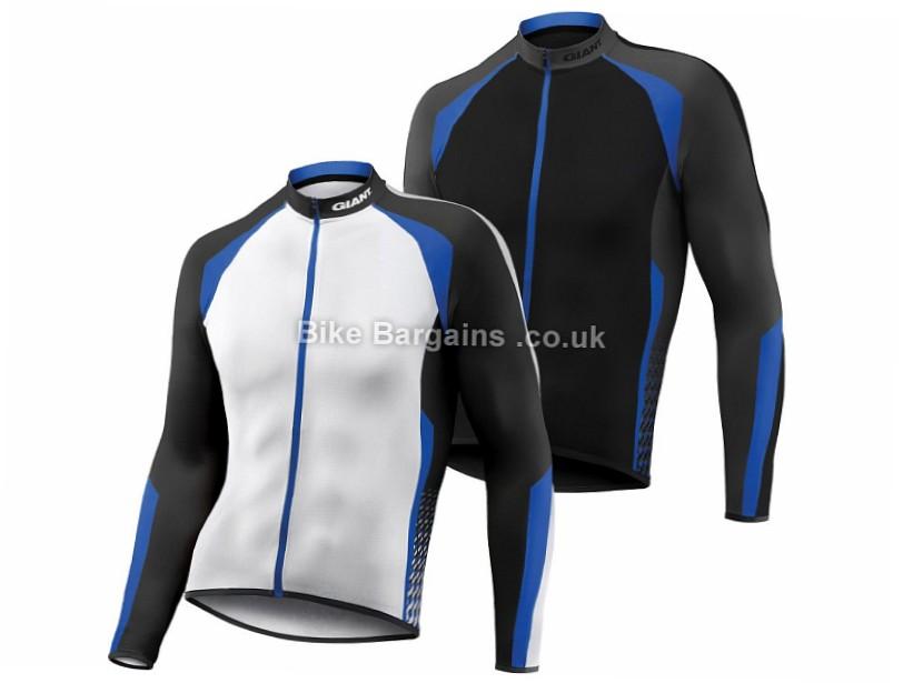Giant Streak Long Sleeve Jersey XL,XXL White, Blue