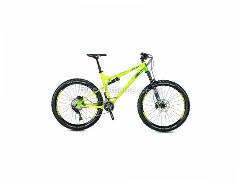 "KTM Lycan 272 Special Edition Custom Build Full Suspension Mountain Bike 2017 17"", 21"", Yellow"