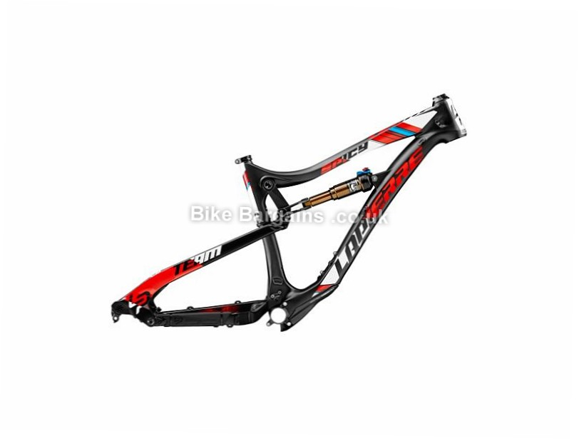 "Lapierre Spicy Team Full Suspension Mountain Bike Frame 27.5"", 17"", Black, White, Red, Carbon, 150mm"