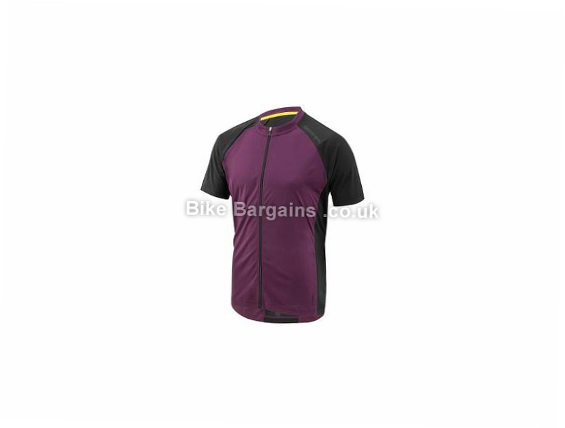 Louis Garneau Kitchell Short Sleeve Jersey L, Purple, Grey, Black