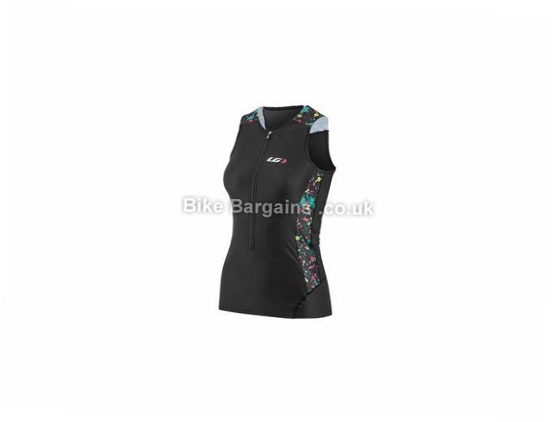 Louis Garneau Ladies Pro Carbon Sleeveless Tri Top L, Black, White