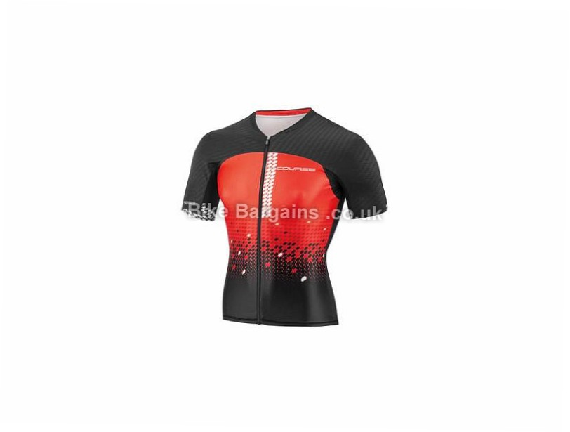 Louis Garneau Tri Course M-2 Short Sleeve Jersey XXL, Red, Black