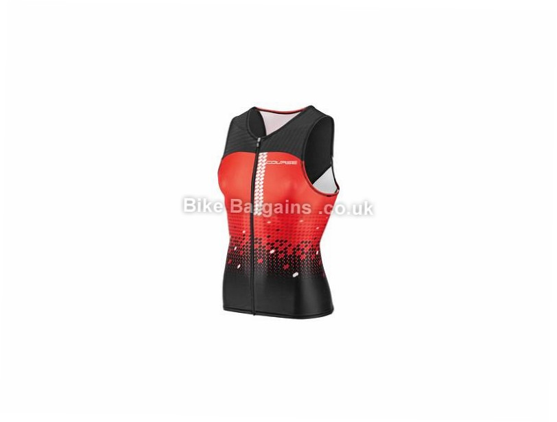 Louis Garneau Tri Course Sleeveless Jersey S,M,L,XL, Red, Black