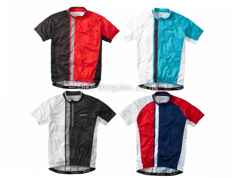 Madison Tour Short Sleeve Jersey XL, Black, White, Red