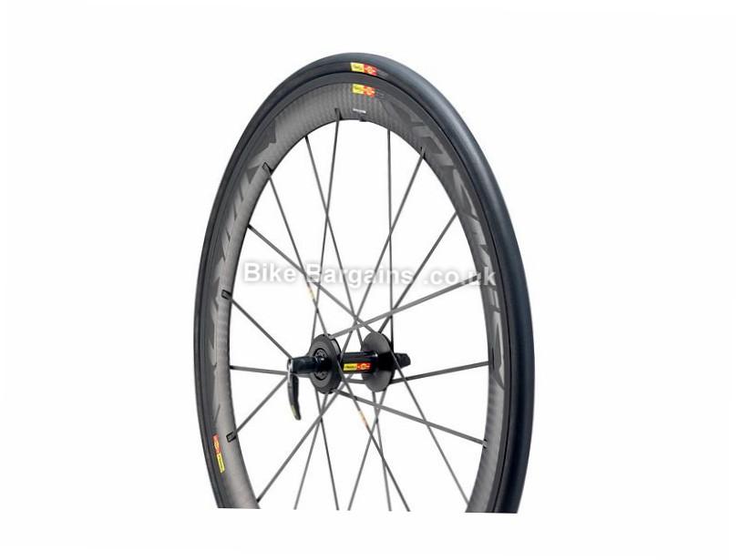 Mavic Cosmic Carbone SLR WTS Front Road Wheel 700c, Carbon, Black