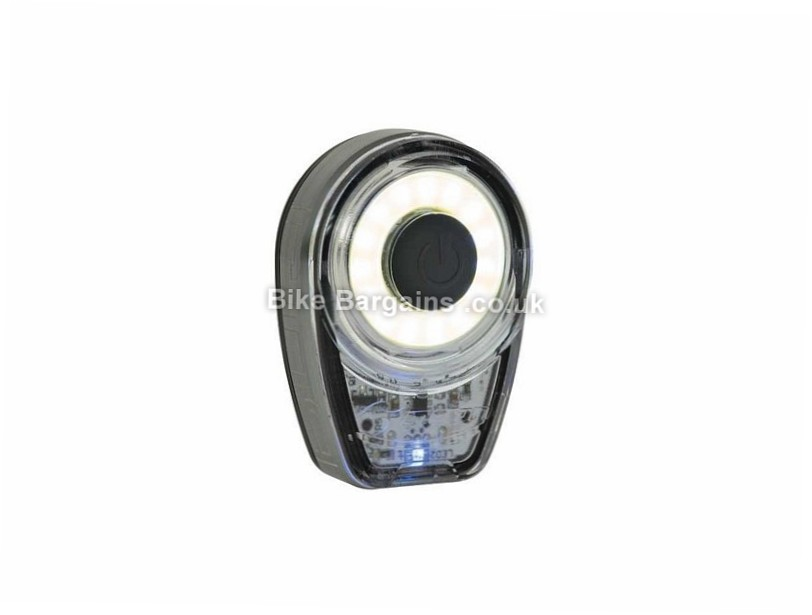 Moon Ring USB Rechargeable Front Light Black, 60 Lumens, 21g