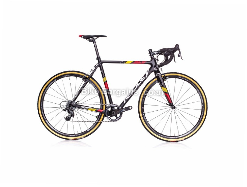 Ridley X-Night Carbon Cyclocross Frameset 58cm, black, red, yellow