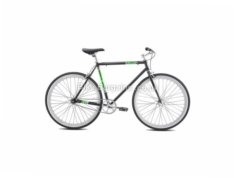 Se Bikes Draft Lite Hybrid City Bike Singlespeed Steel Frame Fork Black