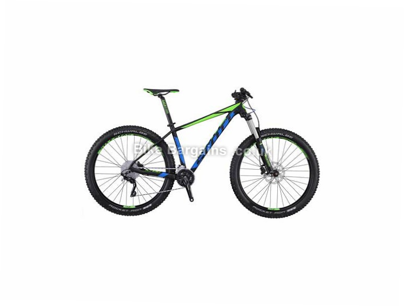 "Scott Scale 720 PLUS 27.5"" Alloy Hardtail Mountain Bike 2016 M, Black, Blue"