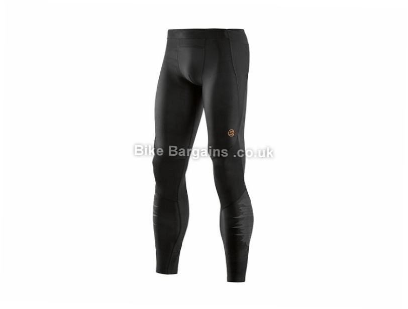 Skins A400 Oblique Long Tights S, M, L, XL, XXL, Black