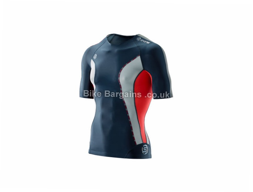 Skins DNAmic Short Sleeve Base Layer XS, Blue