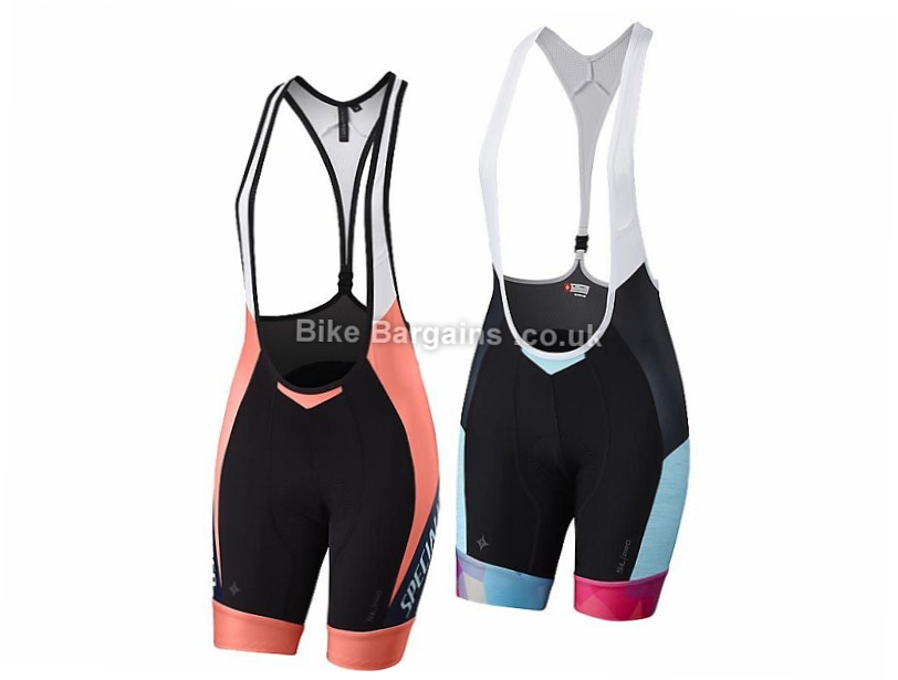 Specialized Ladies SL Pro Bib Shorts 2016 S, Black, Pink