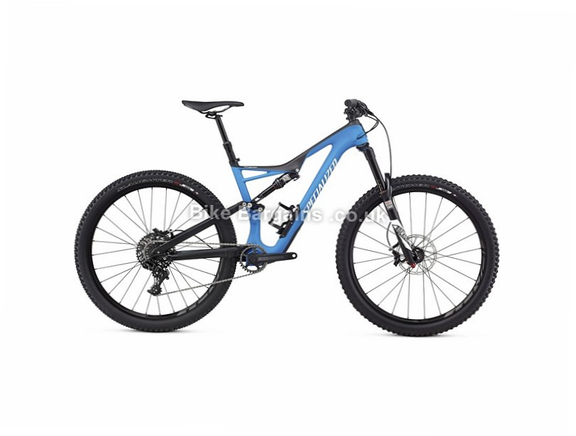 Specialized Stumpjumper FSR Comp Trail Carbon 27.5 Full Suspension Mountain Bike 2017 M, Blue