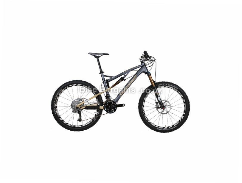 "Steppenwolf Tycoon AM80 26"" Alloy Full Suspension Mountain Bike 2014 S, Grey"