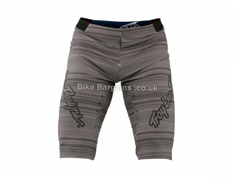 "Troy Lee Designs Ace Distorted MTB Shorts 28"", 34"", 36"", 38"", Grey, Green"