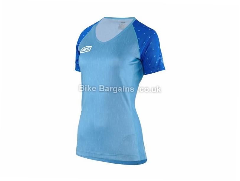 100% Ladies Airmatic Skylar Short Sleeve Jersey 2017 L,XL, Yellow