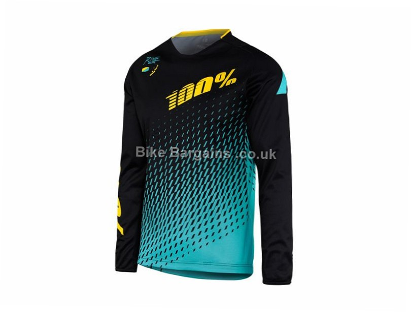 100% R-Core Supra MTB Downhill Long Sleeve Jersey M, L, XL, White, Black, Blue