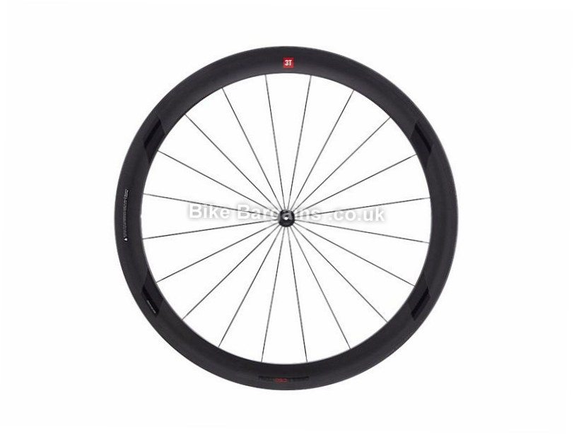 3T Orbis II C50 Team Stealth Rear Road Wheel Shimano, 700c, Black, 9, 10, 11 Speed