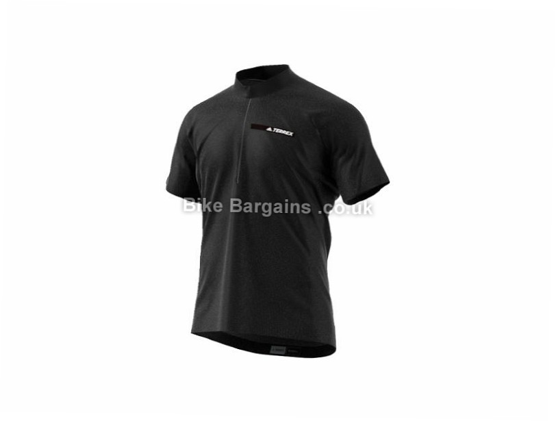 Adidas Agravic Windshirt Short Sleeve Jersey 2017 S, Black