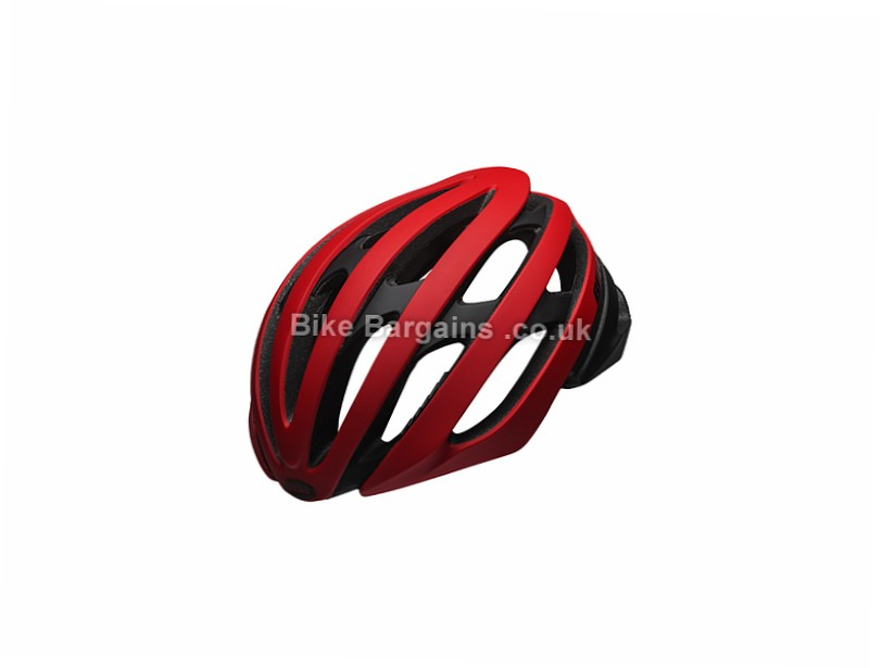 Bell Stratus Road Helmet 2017 S - L is extra - Black, Red, 279g, 18 vents